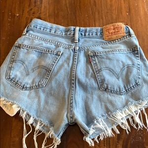 Levi's 505 Mid Rise Cut Off Shorts